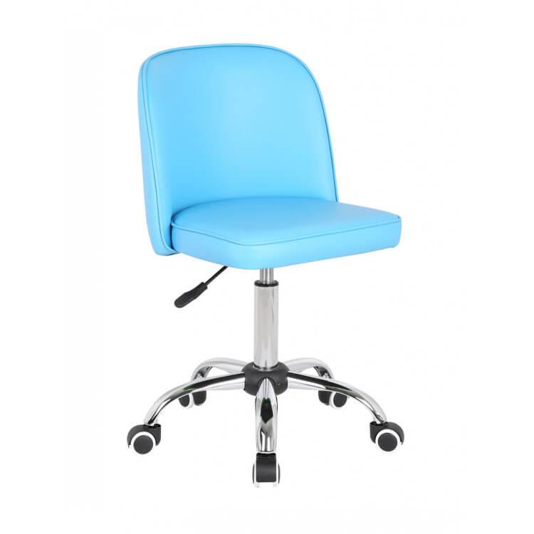 chaise de bureau design bleue turquoise