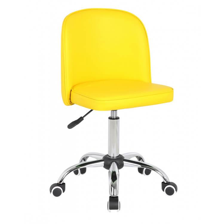 Chaise de bureau enfant design jaune Augustine