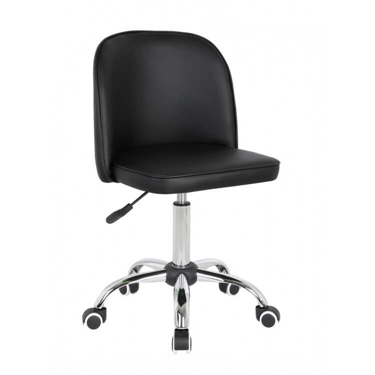 Chaise de bureau enfant design noir Augustine