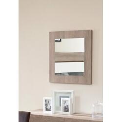 Miroir carré contemporain chêne gris Jenawel