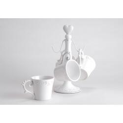 Lot de 4 mugs avec support DEJEUNER AU MANOIR