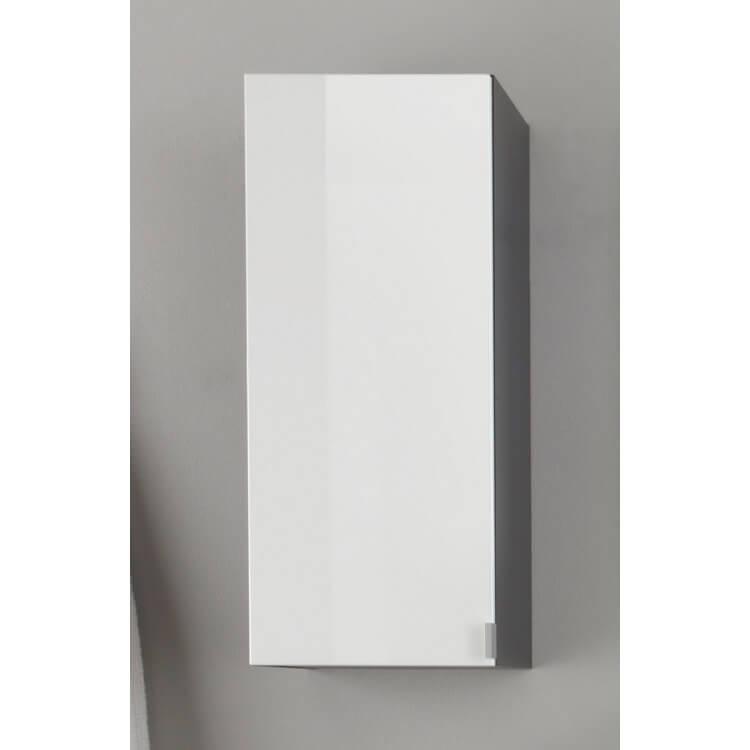 Meuble haut de salle de bain design gris/blanc laqué Messine