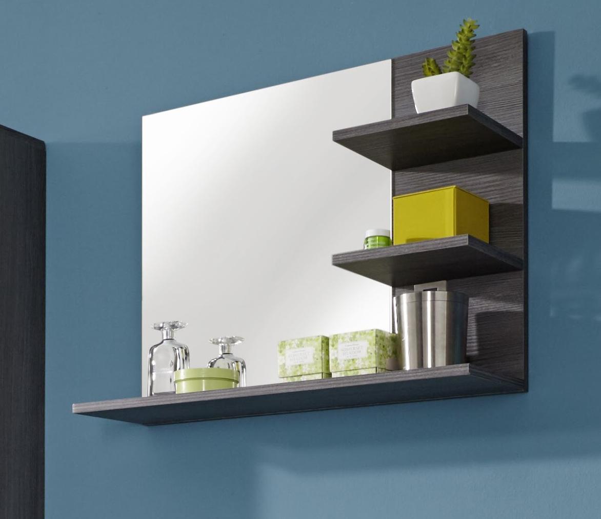 Miroir de salle de bain contemporain gris foncé Bergamo