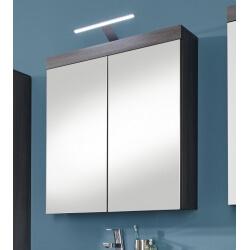 Armoire de toilette contemporaine gris foncé Bergamo