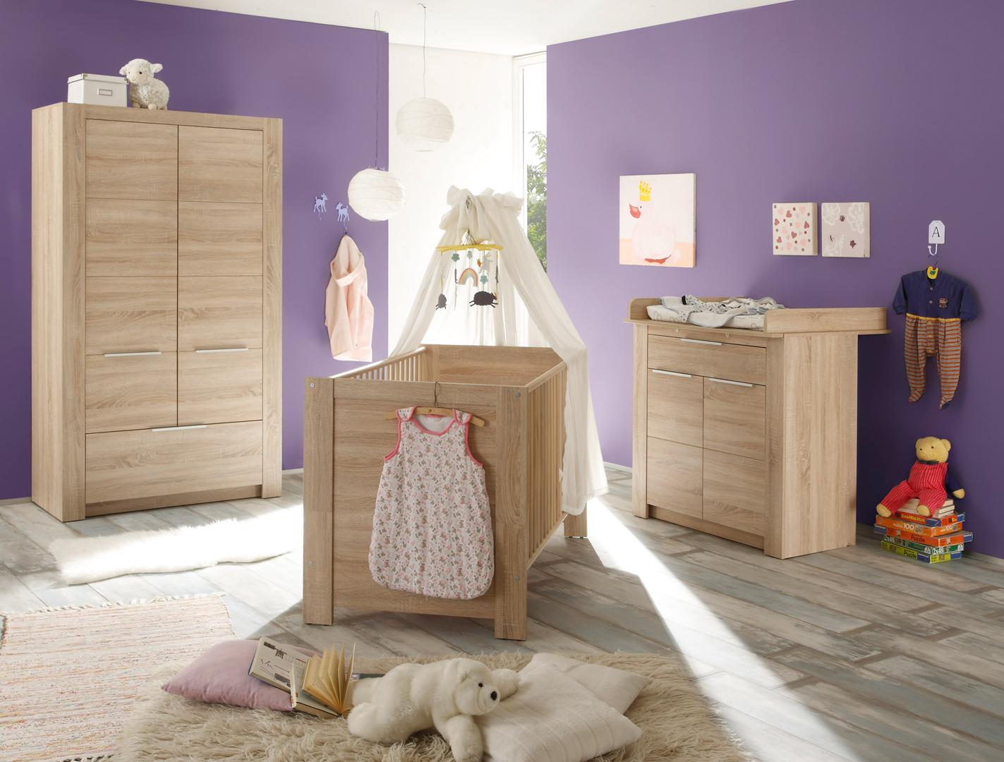 Chambre bébé contemporaine chêne clair Charlotte