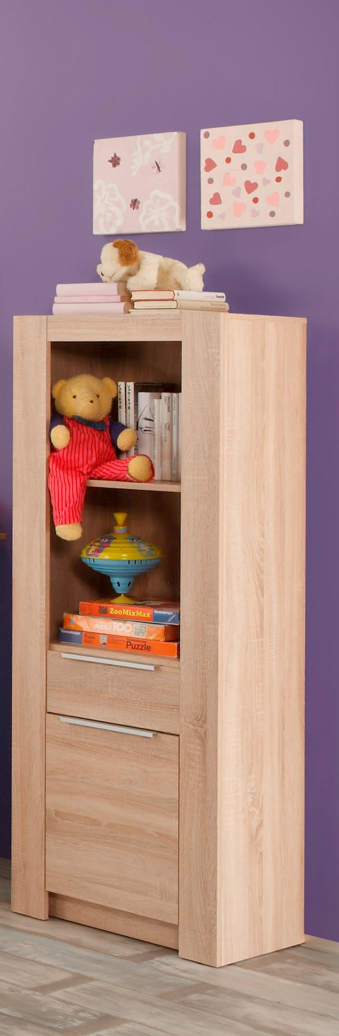 Bibliothèque enfant contemporaine chêne clair Charlotte