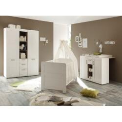 Chambre bébé contemporaine coloris pin blanchi Chloé