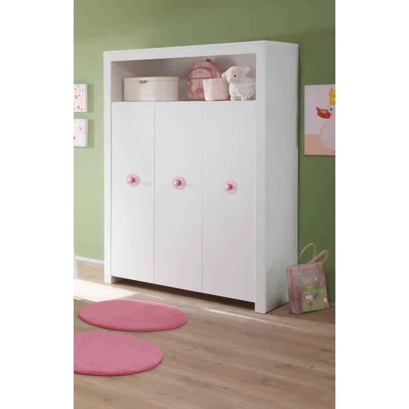 armoire enfant contemporaine blanche alexane matelpro. Black Bedroom Furniture Sets. Home Design Ideas