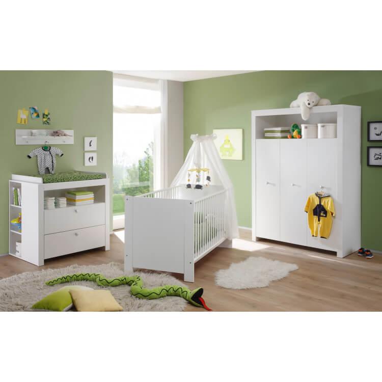 armoire enfant contemporaine blanche alexane matelpro. Black Bedroom Furniture Sets. Home Design Ideas