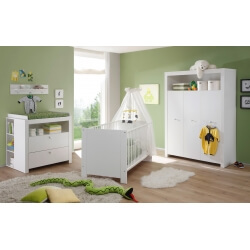 Chambre bébé contemporaine blanche Alexane