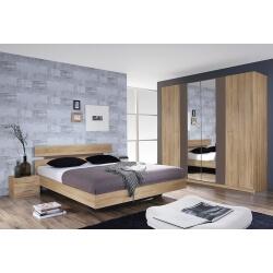 Chambre adulte contemporaine chêne/gris Maurine