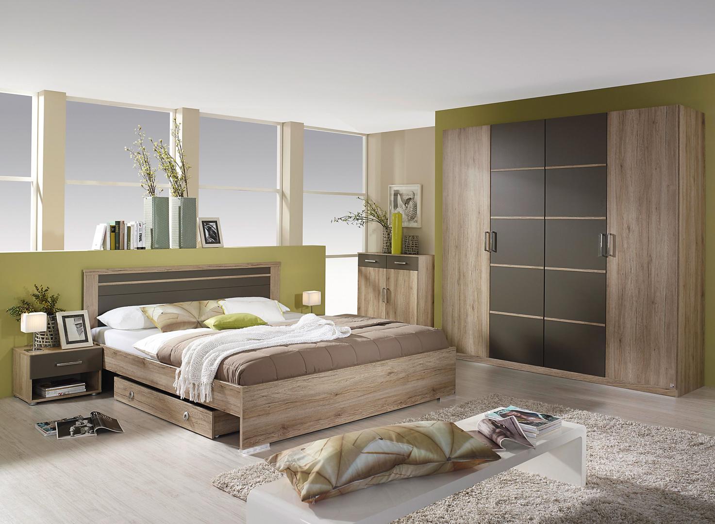 chambre adulte contemporaine ch ne gris hebertine. Black Bedroom Furniture Sets. Home Design Ideas