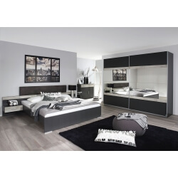 Chambre adulte contemporaine grise Penny II | Matelpro