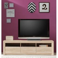 Meuble TV contemporain 3 tiroirs chêne clair Roseville