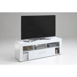 Meuble TV design blanc laqué Myriam