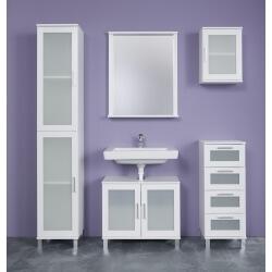 Ensemble de salle de bain contemporain blanc Yolo