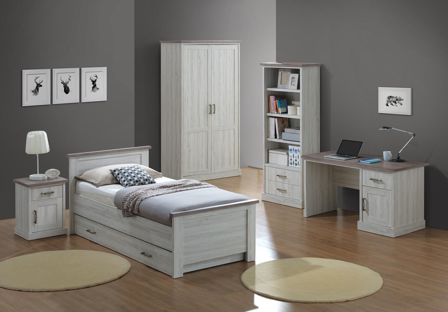 bureau contemporain ch ne clair marron solange matelpro. Black Bedroom Furniture Sets. Home Design Ideas