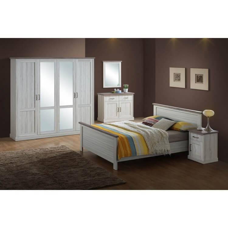 chevet contemporain ch ne clair marron solange matelpro. Black Bedroom Furniture Sets. Home Design Ideas