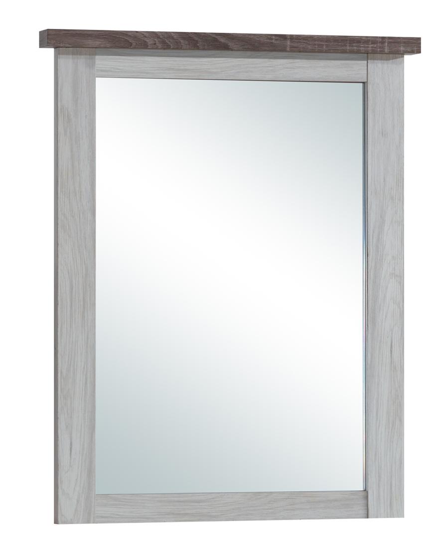 Miroir contemporain rectangulaire chêne clair/marron Solange