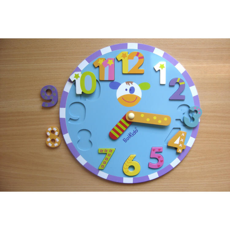 Jeu d'éveil puzzle horloge