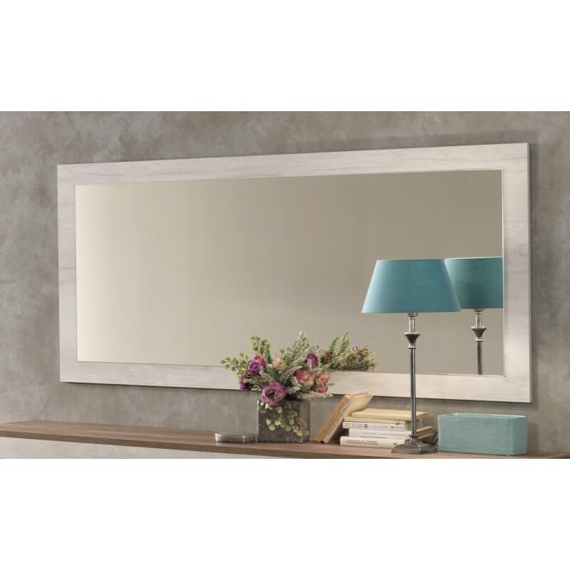 miroir de salle manger rectangulaire 140 cm ch ne blanchy zola matelpro. Black Bedroom Furniture Sets. Home Design Ideas