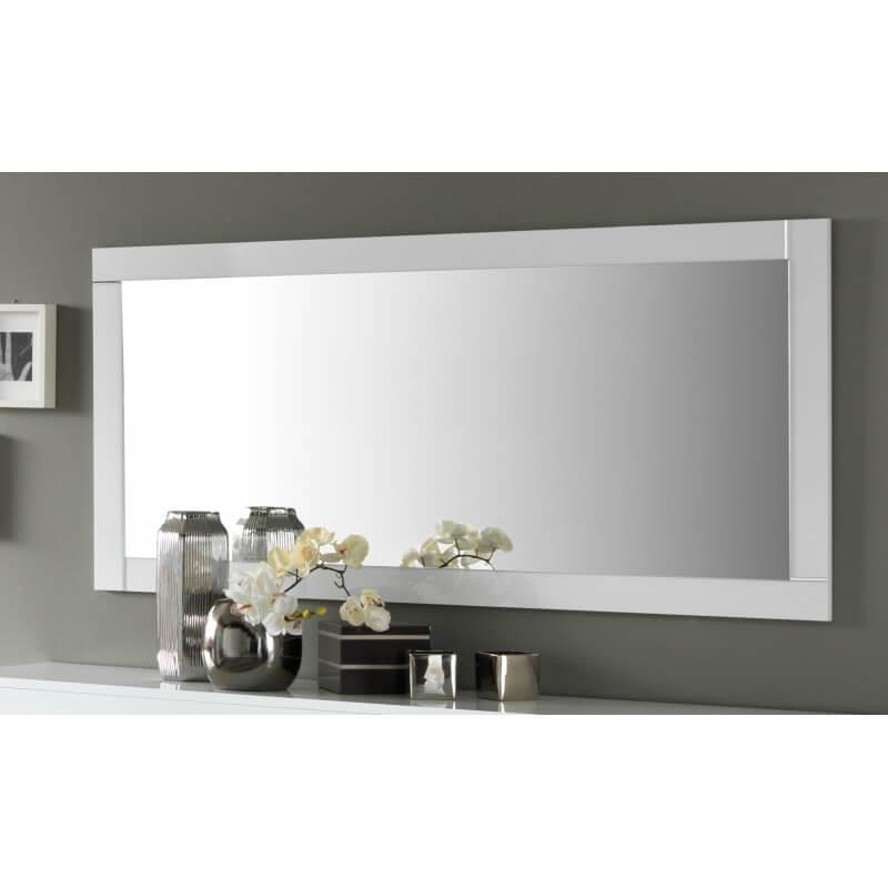 Miroir de salle manger rectangulaire 140 cm blanc laqu - Miroir 140 cm ...