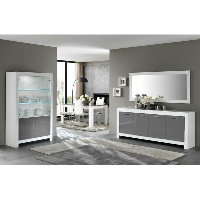 miroir de salle manger rectangulaire 180 cm blanc laqu m gane matelpro. Black Bedroom Furniture Sets. Home Design Ideas
