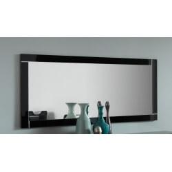 Miroir de salle à manger rectangulaire 140 cm laqué noir Savana