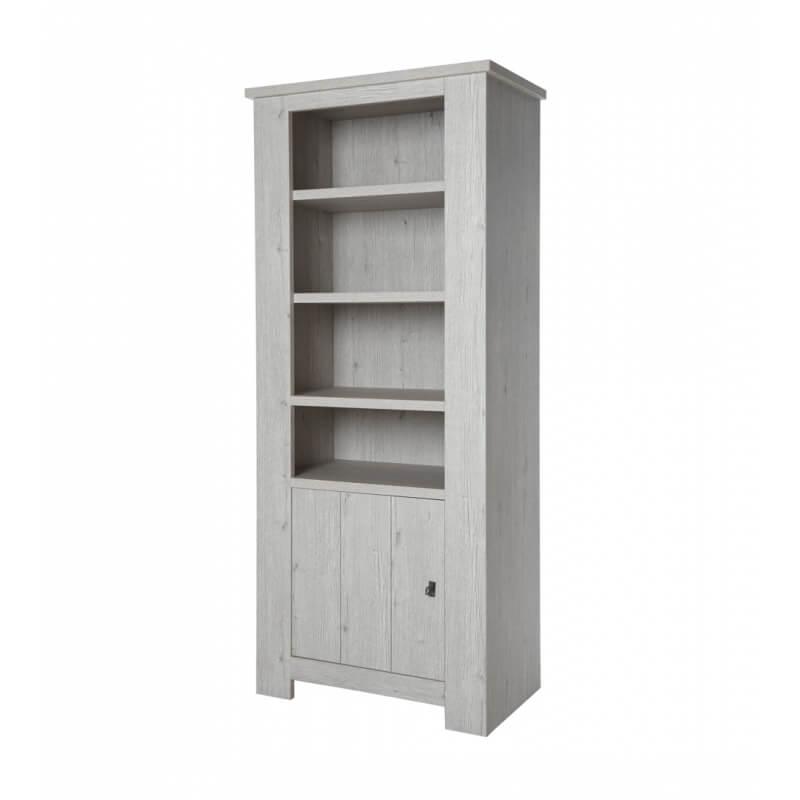 biblioth que contemporaine coloris ch ne blanc liliane. Black Bedroom Furniture Sets. Home Design Ideas