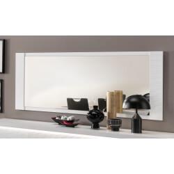 Miroir de salle à manger rectangulaire laqué blanc 210 cm Roselia