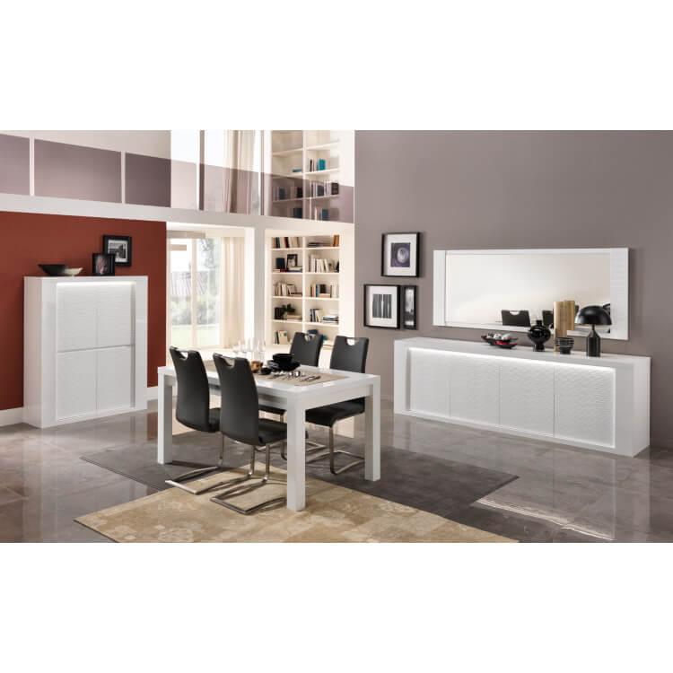 miroir de salle manger rectangulaire laqu blanc 210 cm. Black Bedroom Furniture Sets. Home Design Ideas
