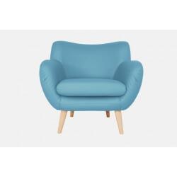 Fauteuil fixe design en PU bleu Axelle