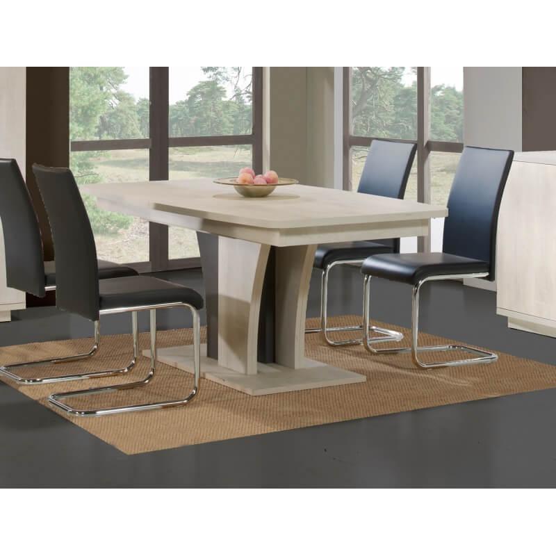 table de salle manger design extensible ch ne clair. Black Bedroom Furniture Sets. Home Design Ideas