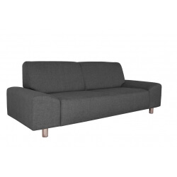 Canapé fixe contemporain 3 places en tissu anthracite Dick