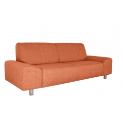 Canapé fixe contemporain 3 places en tissu orange Dick