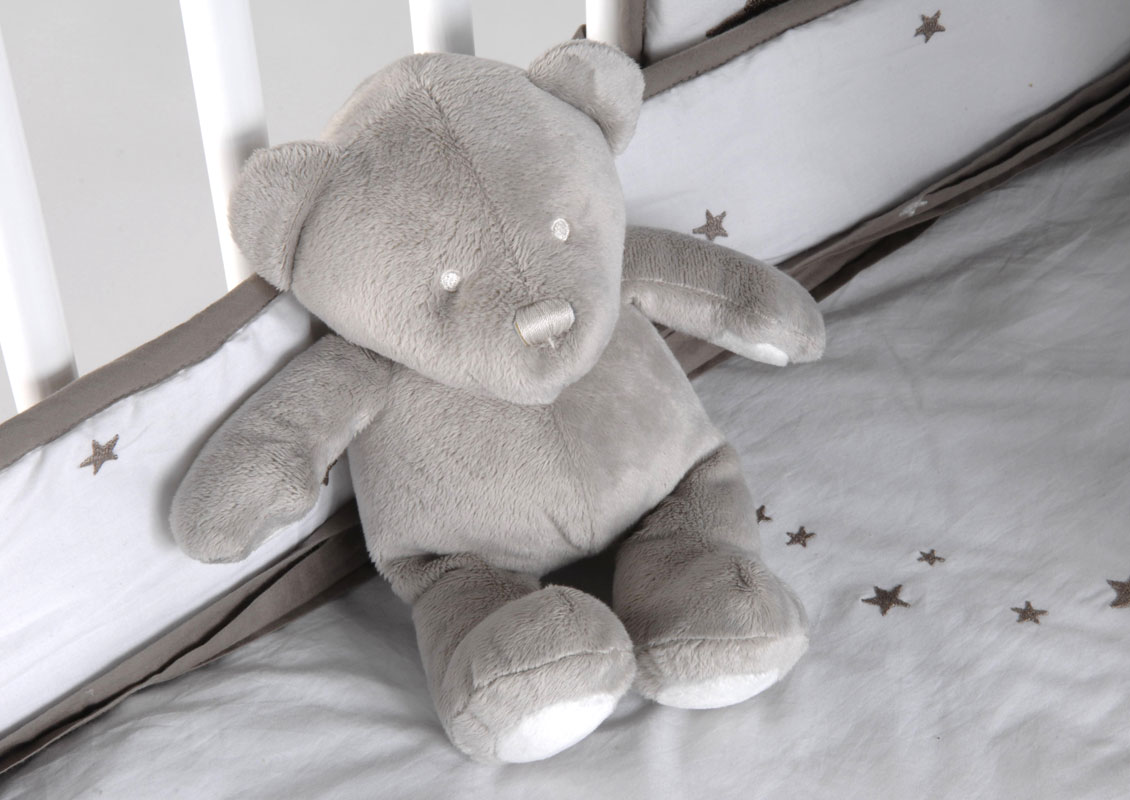 Peluche OURS-Gris perle