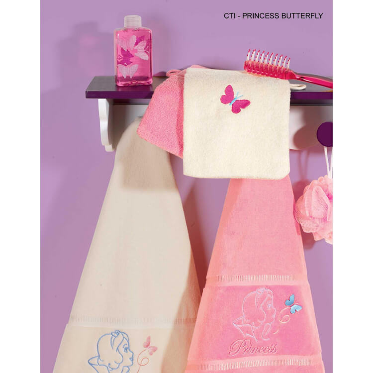 Gant de toilette PRINCESS BUTTERFLY (lot de 2)