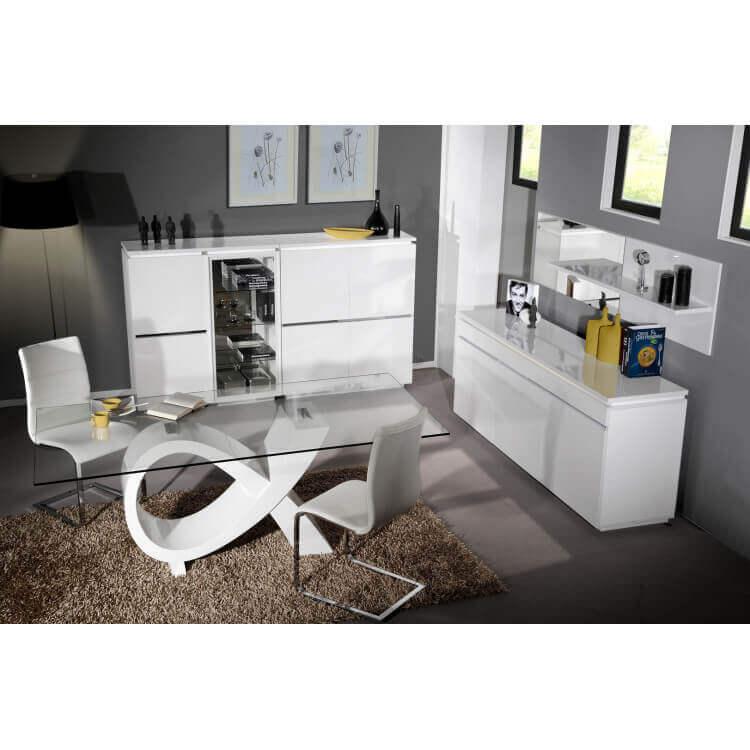 Salle à manger design blanche Amelie