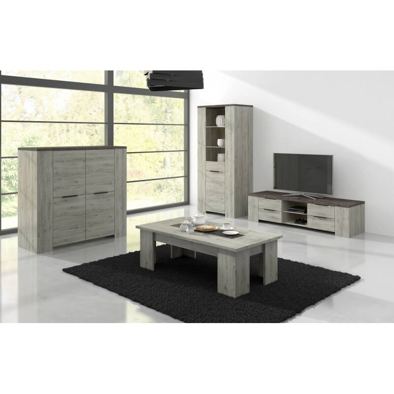 meuble tv contemporain ch ne figaro b ton rivea. Black Bedroom Furniture Sets. Home Design Ideas