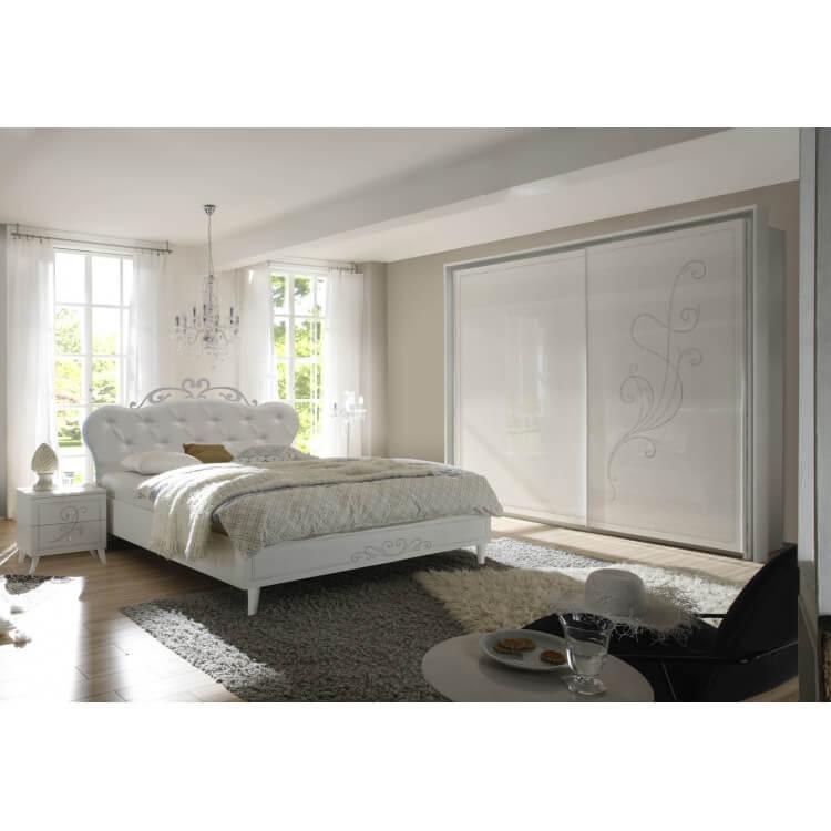 Chambre adulte design blanche sérigraphiée Baldi