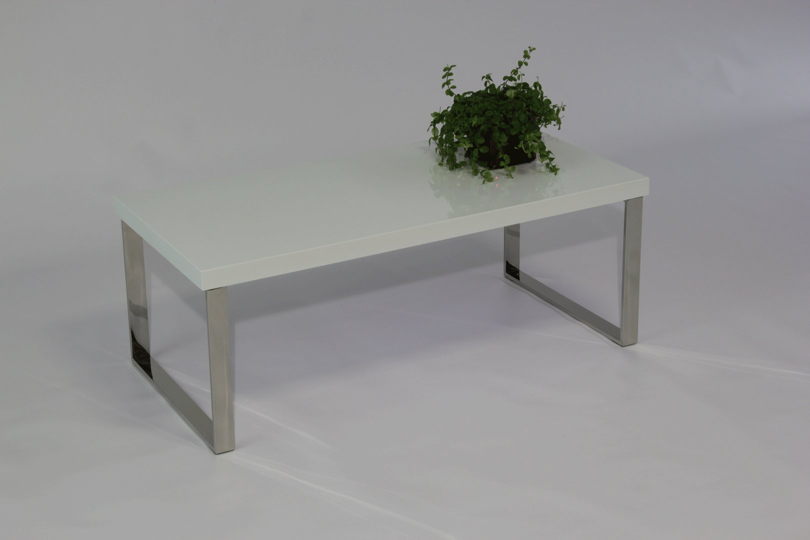 Table basse contemporaine rectangulaire blanc brillant Istanbul