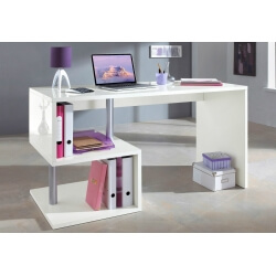 Bureau design blanc mat Coline