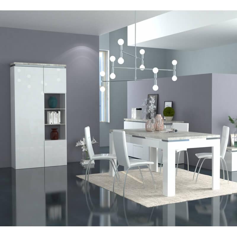 Table de salle manger design rectangulaire blanc laqu - Table salle a manger design blanc laque ...