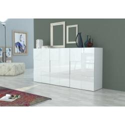 Buffet/bahut design blanc laqué 180 cm Bamako