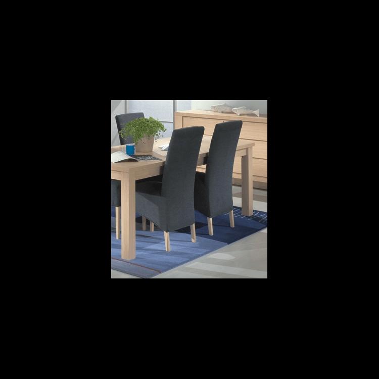Chaises de salle à manger contemporaine en tissu gris (lot de 2) Harrold