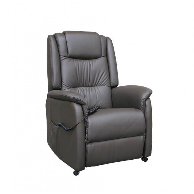 Fauteuil de relaxation cuir électrique releveur CORSO