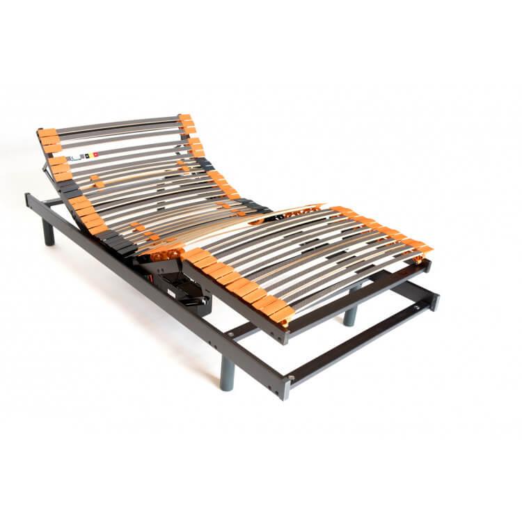 Sommier de relaxation électrique en bois à lattes Civelle