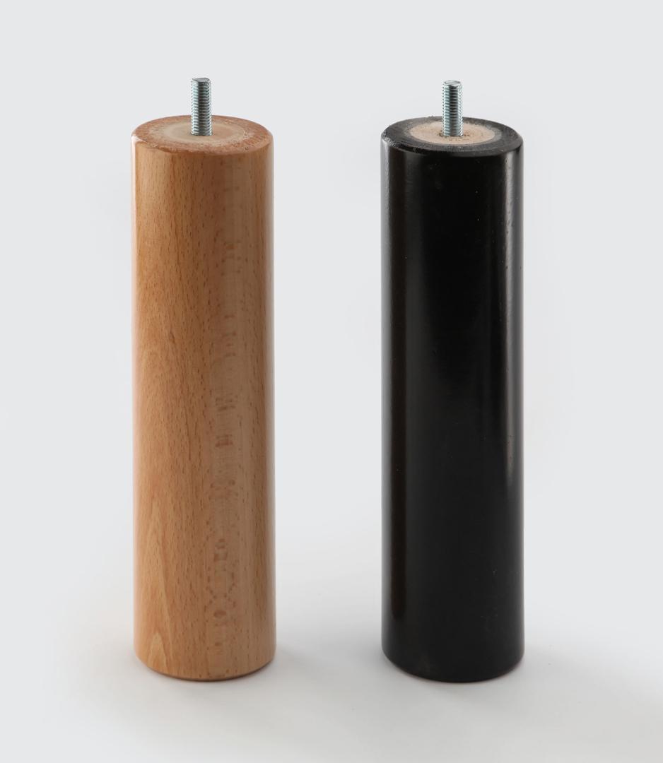 Pieds en bois cylindriques hauteur 22 cm (lot de 4) Leysk