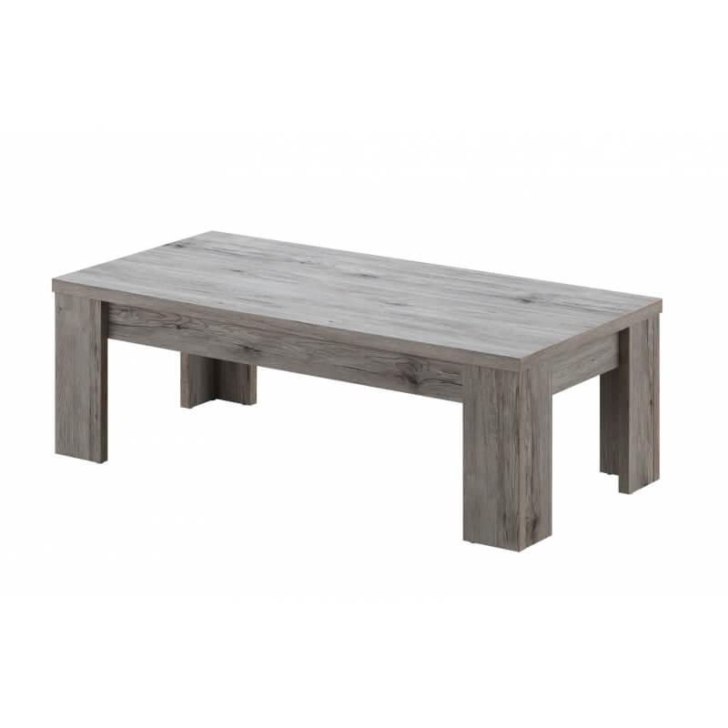 table basse contemporaine rectangulaire ch ne rustique. Black Bedroom Furniture Sets. Home Design Ideas