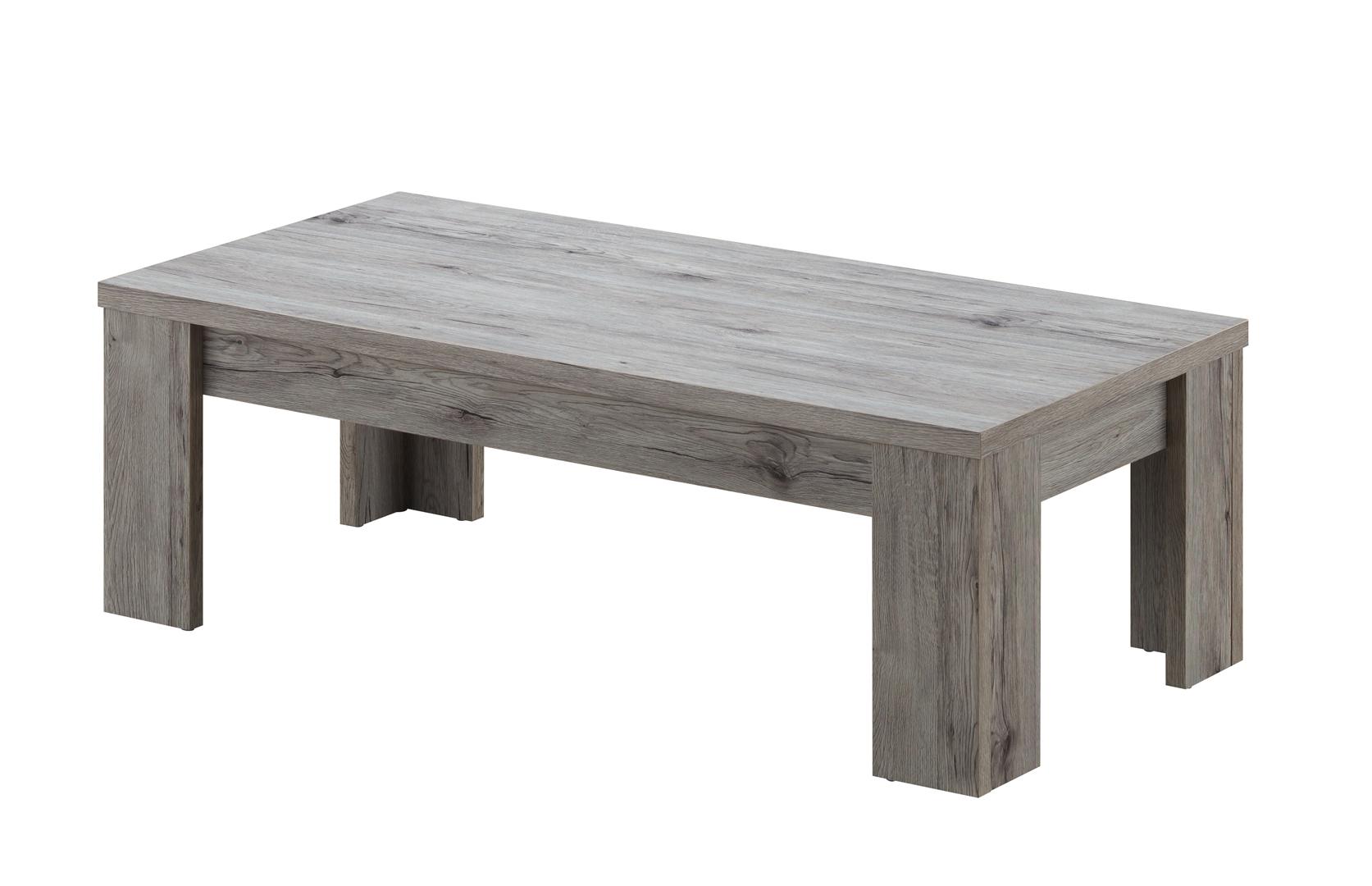 Table basse contemporaine rectangulaire chêne rustique Maggie